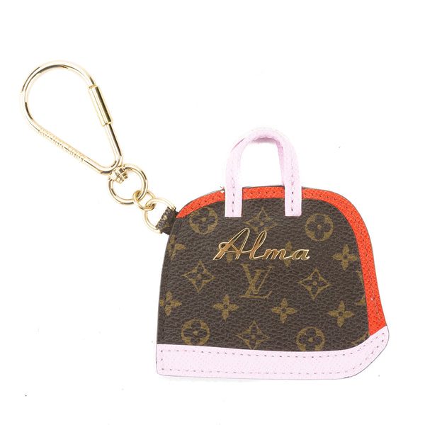 louis vuitton pink and red monogram porte cles alma bb bag. Black Bedroom Furniture Sets. Home Design Ideas