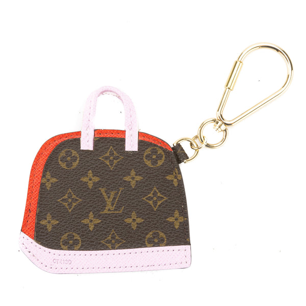 Louis vuitton pink and red monogram porte cles alma bb bag - Porte cle michael kors ...