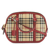 Burberry Parade Red Leather Horseferry Check Small Orchard Bag (New with Tags)