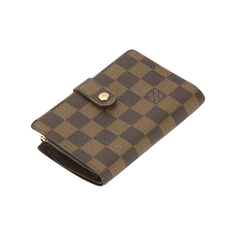 Louis Vuitton Damier Ebene French Purse Wallet (Pre Owned)