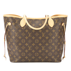 Louis Vuitton Fuchsia Monogram Neverfull MM Bag (Pre Owned)