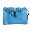 Saint Laurent Bleu Clair Leather Baby Monogram Cabas Bag (New with Tags)