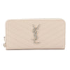 Saint Laurent Beige Matelasse Monogram Saint Laurent Zip Around Wallet (New with Tags)