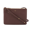 Celine Bordeaux Lambskin Leather Small Trio Crossbody Bag (New with Tags)