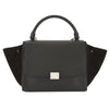 Celine Black Leather Small Trapeze Handbag (New with Tags)