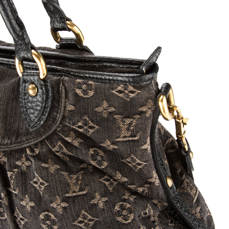 Louis Vuitton Black Monogram Denim Neo Cabby GM Bag (Pre Owned)