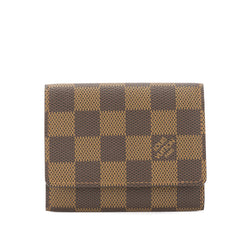 Louis Vuitton Damier Ebene Enveloppe Cartes De Visite Card Case (Pre Owned)