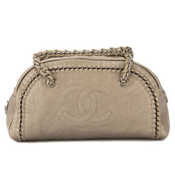 Chanel Bronze Leather Chain Shoulder Bag (Pre Owned)