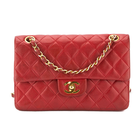 Chanel Red Quilted Leather Classic Double Flap Bag (Pre Owned)
