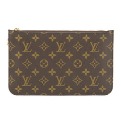 Louis Vuitton Monogram Neverfull Pochette Purse Clutch (Pre Owned)