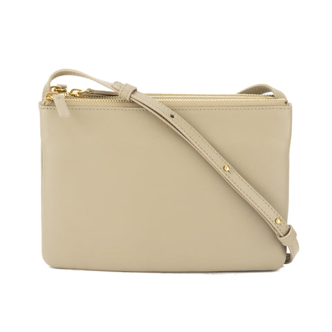 Celine Beige Lambskin Trio Shoulder Bag (New with Tags)