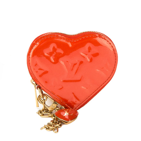 Louis Vuitton Pomme D'Amour Monogram Vernis Heart Coin Purse (Pre Owned)