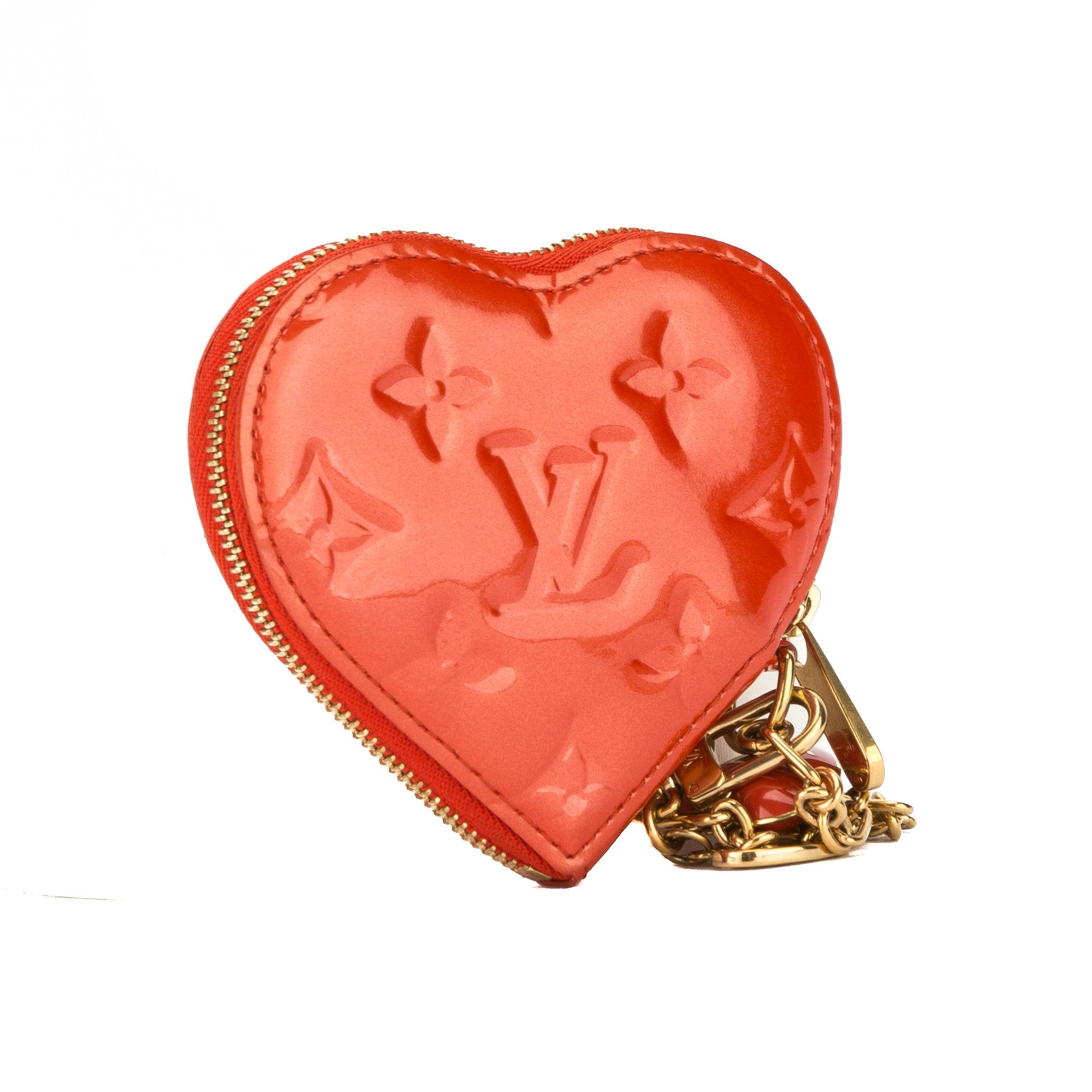 7f3f8994c Louis Vuitton Pomme D'Amour Monogram Vernis Heart Coin Purse (3199049) -  3199049 | LuxeDH