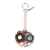 Fendi Pink Leather Flower Mirror Bag Charm (New with Tags)