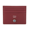 Fendi Red Leather Flowers Card Case (New with Tags)
