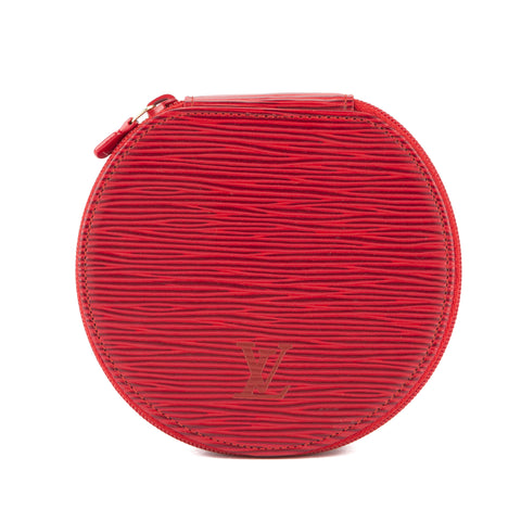Louis Vuitton Castillian Red Epi Ecrin Bijoux Jewelry Case (Pre Owned)