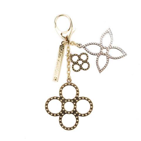 Louis Vuitton Gold and  Silver Bijoux Suck Tapage Bag Charm (Pre Owned)