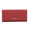 Prada Red Saffiano Leather Continental Wallet (New with Tags)