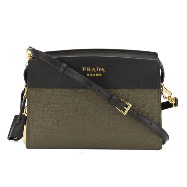 70c88392e4 ... promo code for prada military green and black saffiano esplanade bag  new with tags 3233004 luxedh