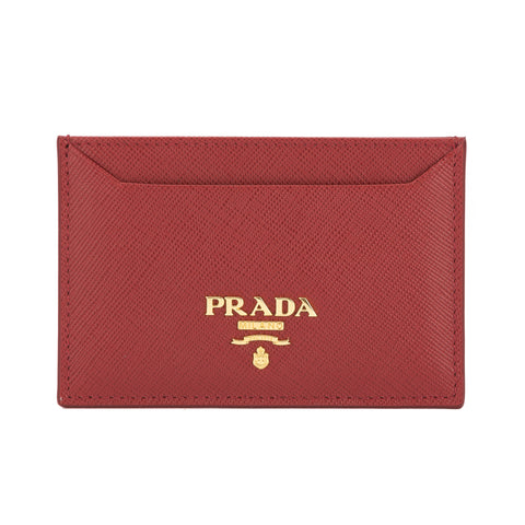 Prada Red Saffiano Leather Credit Card Holder (New with Tags)