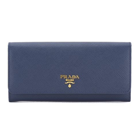 Prada Blue Saffiano Leather Wallet (New with Tags)