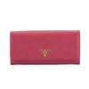 Prada Peony Pink Saffiano Leather Continental Wallet (New with Tags)