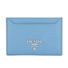 Prada Baby Blue Saffiano Leather Credit Card Holder (New with Tags)