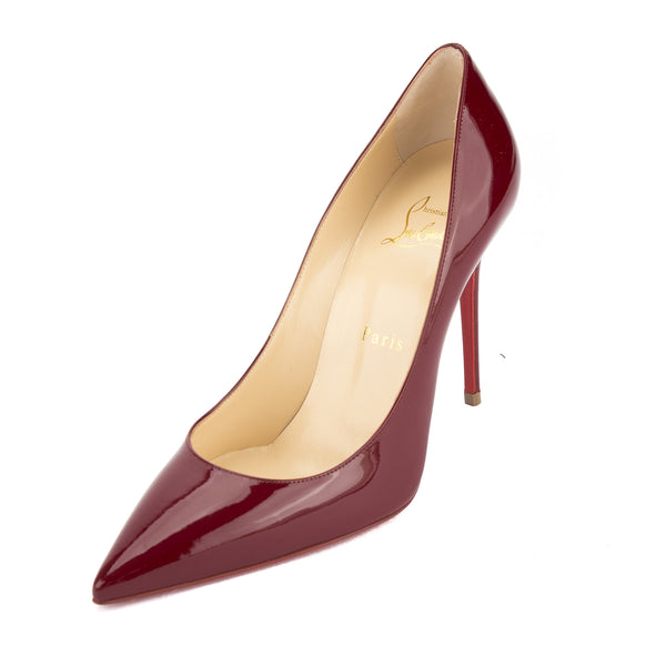pretty nice d078c 72332 Christian Louboutin Carmin Patent Leather Decollete 554 100mm Pump (New  with Tags)