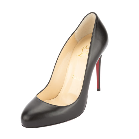 Christian Louboutin Black Patent Leather Dorissima 100mm Pump (New with Tags)