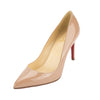 Christian Louboutin Nude Patent Leather Pigalle 85mm Pump (New with Tags)