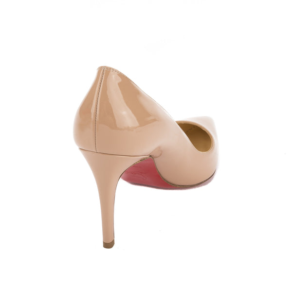 eb78c8a9c4b Christian Louboutin Nude Patent Leather Pigalle 85mm Pump (New with ...