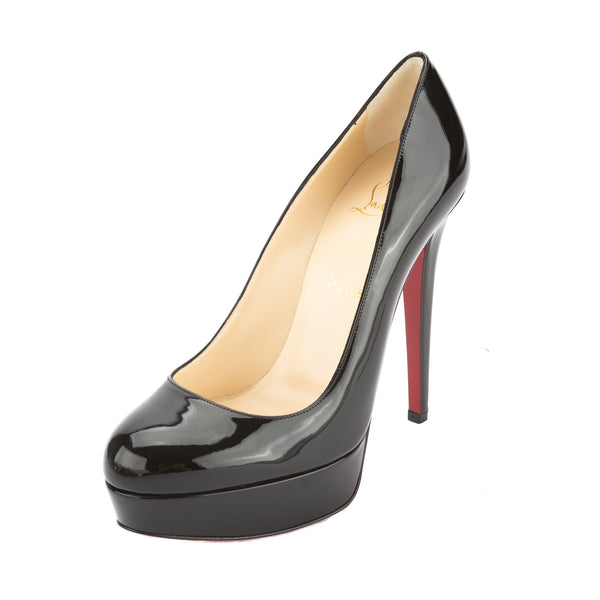lower price with 17e1c 4afd1 Christian Louboutin Black Patent Leather Bianca 120mm Platform Heel, Size  36.5 (New with Tags)