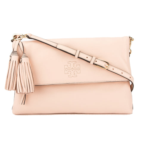 Tory Burch Sweet Melon Leather Thea Fold Over Messenger Bag (New With Tags)