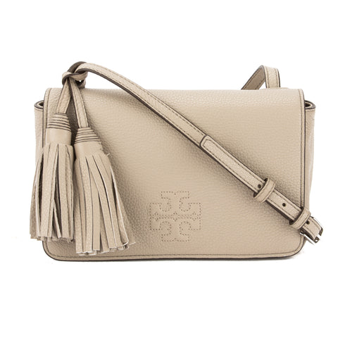 Tory Burch French Gray Leather Thea Mini Bag (New With Tags)