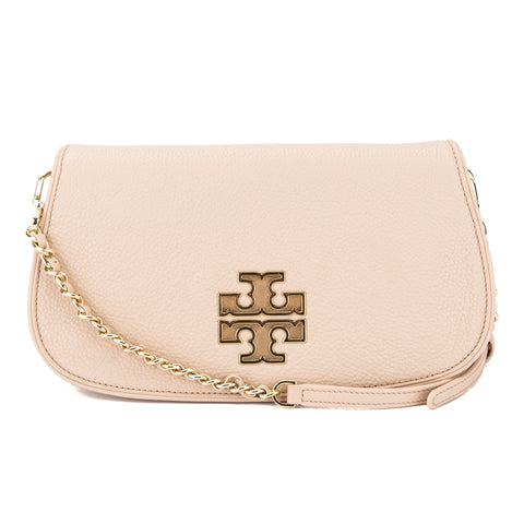 Tory Burch Bark Leather Britten Mini Crossbody Bag (New With Tags)