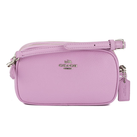 Coach Pink Pebble Leather Crossbody Pouch (New with Tags)