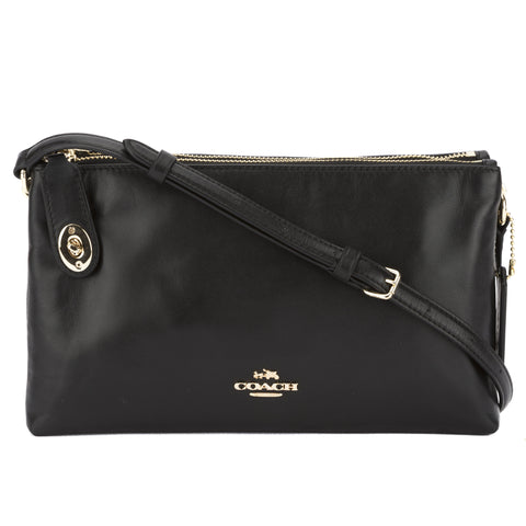 Coach Black Pebble Leather Crosby Crossbody Bag (New with Tags)