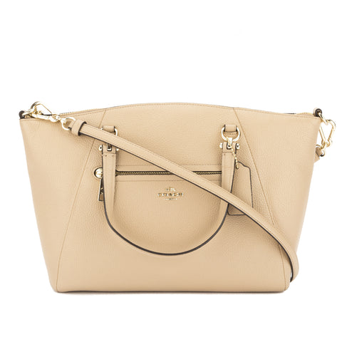 Coach Nude Pebble Leather Prairie Satchel (New with Tags)