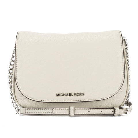 Michael Kors Cement Leather Medium Bedford Saddle Bag  (New with Tags)