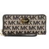 Michael Kors Black Leather Signature Logo Jet Set Travel Continental Wallet (New with Tags)