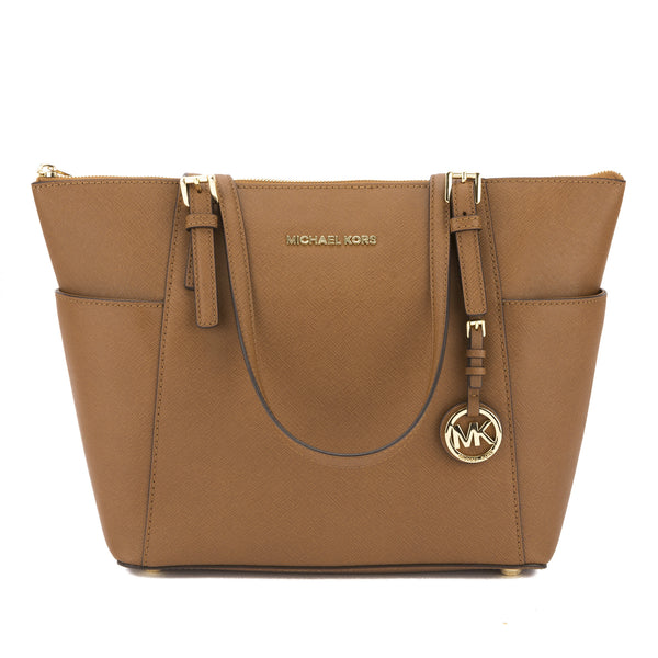 2d482612ad291c Michael Kors Luggage Saffiano Leather Jet Set Top Zip Tote New with Tags