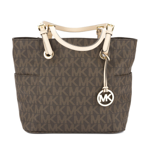 Michael Kors Brown Leather Logo Jet Set East/West Tote (New with Tags)