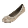 Tory Burch London Gray Leather Gabby Ballet Flat, Size 37 (New With Tags)