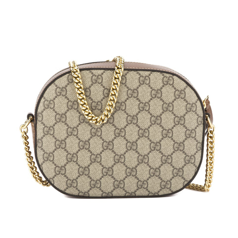 Gucci Beige and Ebony GG Supreme Mini Chain Bag (New with Tags)