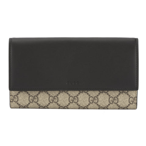Gucci Black Leather GG Supreme Wallet (New with Tags)