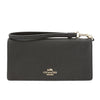 Coach Black Pebble Leather Slim Wallet (New with Tags)