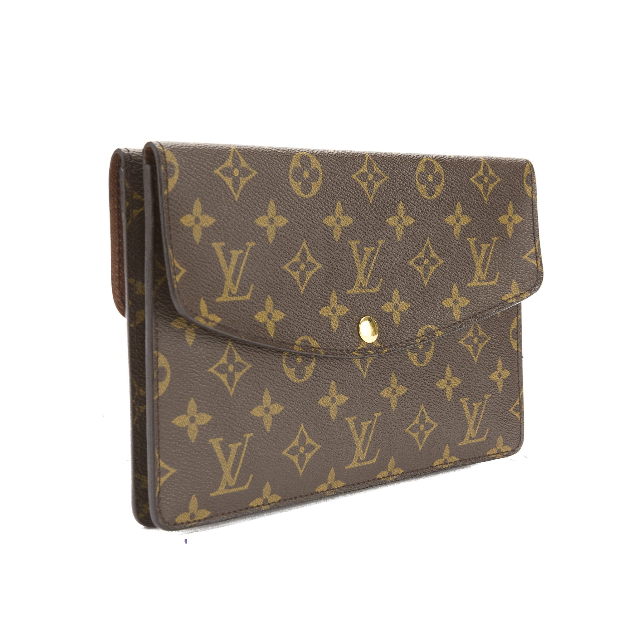 de60b6ef0b1a Louis Vuitton Monogram Double Pochette Rabat Clutch Bag (Pre Owned) -  3277008