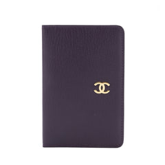 Chanel Purple Goatskin Leather Notebook Cover (Pre Owned)