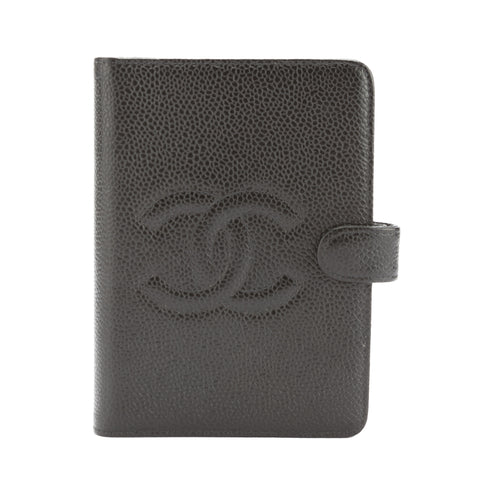 Chanel Black Caviar Leather COCO Mark Notebook Cover (Pre Owned)