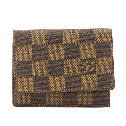 Louis Vuitton Damier Ebene Business Card Holder (Pre Owned)